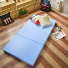 Saint Rose 台灣製 單人5公分吸濕透氣蜂巢式三折床墊組-藍
