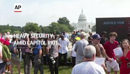 Heavy security amid Capitol riot supporters' rally