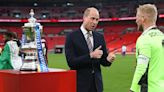 Prince William Presented the Trophy at the FA Cup Final in London Saturday