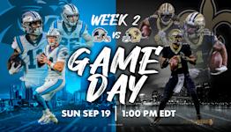 NFL Week 2: Saints wearing gold pants again vs. Panthers