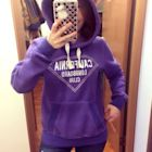三越購、美式休閒 California Republic 美紫色厚實內刷毛 連帽運動上衣 tommy RL a&f ck