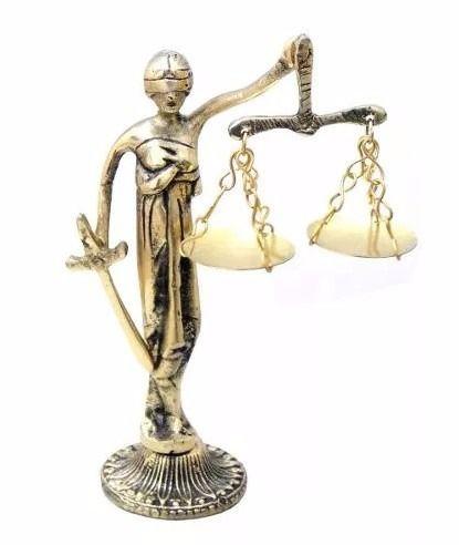 Estátua / Balança Da Justiça Simbolo Advogados-bronze ...