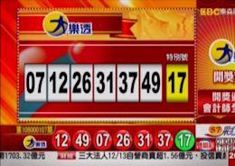 12/13 大樂透、雙贏彩、今彩539 開獎囉! - 社會 - 自由時報電子報