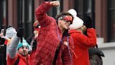 Patrick Mahomes' Girlfriend Brittany Matthews Joins Him on Float in Super Bowl Parade
