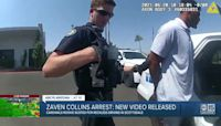 Body camera footage shows Cardinals player Zaven Collins' arrest