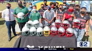 Chargers Helmet Donation Impacts Two Local Schools
