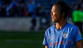 A women's World Cup champion is set to make history as the first female soccer star to play professionally with a men's club