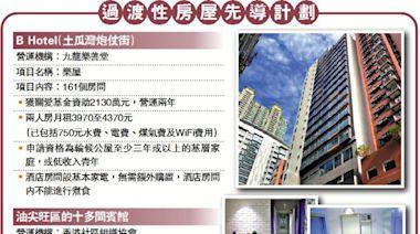 先導計劃/首批酒店改過渡房 提供240單位