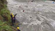 野溪溫泉6人受困 警消18小時全救出