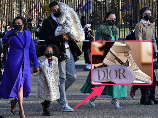Kamala Harris' nephew-in-law wore $2,000 Dior-Air Jordans to the inauguration, and sneakerheads were drooling