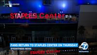 Reopened Staples Center not allowing food in seats