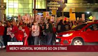 Mercy Hospital workers on strike