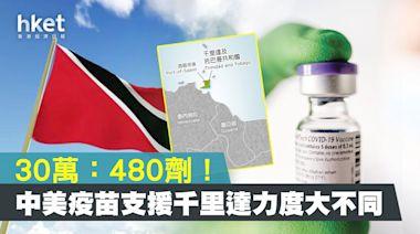 30萬劑:480劑!中美疫苗支援千里達力度大不同 - 香港經濟日報 - 中國頻道 - 社會熱點
