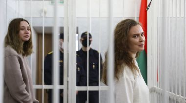 2 Belarusian journalists sent to prison for covering protest against Lukashenko