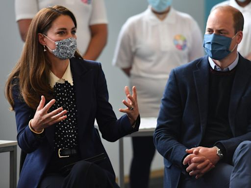Kate Middleton and Prince William Made a Coordinated Appearance in Navy Blue Suits