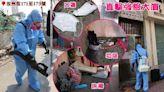 武漢肺炎|《蘋果》直擊汝州街強檢大廈 床褥煙蒂建材垃圾隨地有 居民聘清潔工消毒自救 | 蘋果日報