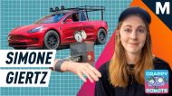 Simone Giertz used to make useless inventions, then she beat Tesla to the Cybertuck