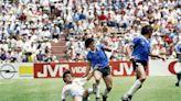 Maradona's 'Hand of God' shirt not for sale, says England's Hodge