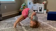 1-year-old is all of us attempting a gymnastics routine after watching the Olympics