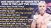 Jake Paul reveals 13-long list of things he's done since Ben Askren KO