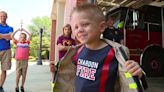 'I want to save people': Chardon boy with rare cancer becomes firefighter for a day
