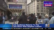 Eager Crowd Waits Outside Ed Sullivan Theater For Return Of 'The Late Show'
