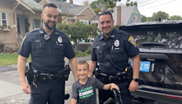 Mass. Police Officers Surprise Boy, 6, with New Bike After His Last 2 Were Stolen Weeks Apart