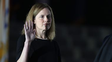 Amy Coney Barrett takes oath as Supreme Court justice, as GOP celebrates 6-3 conservative majority