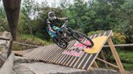 Watch this professional bike rider conquer an epic urban downhill race in Colombia