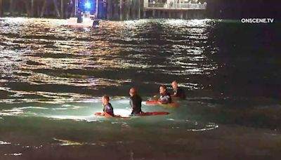 Water search called off for woman seen clinging to Santa Monica Pier