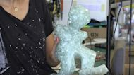 Lebanese artist makes glass sculptures from Beirut port explosion debris
