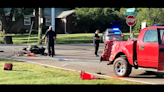 Two people suffer 'life-threatening injuries' after motorcycle collides with pickup truck