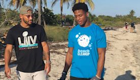 In town to clean up the beaches, ex-Dolphin Kenyan Drake comes clean on time in Miami