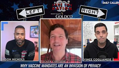 Tucker Carlson Punts When Confronted on Fox's Vaccine Policy: 'I'm Not Qualified to Speak' on It
