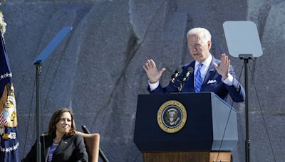 'Trillion!': Harris corrects Biden on size of his already-passed spending plan