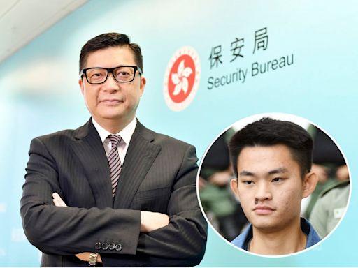 鄧炳強:陳同佳服刑後是自由人 要正常生活