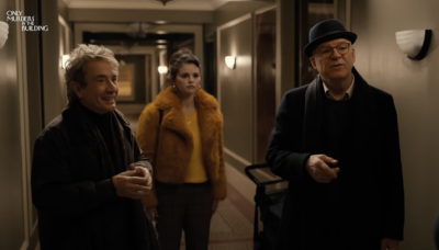 Steve Martin, Martin Short, and Selena Gomez investigate Only Murders In The Building for Hulu