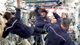 Astronauts on the space station held their own Olympics, complete with synchronized air swimming - watch the videos
