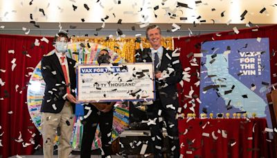 Watch: Gavin Newsom selects 10 winners of $1.5 million in California vaccine lottery