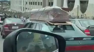 Vehicles Carrying Coffins Wait Outside Cemetery as Coronavirus Devastates Guayaquil