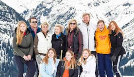 Queen Maxima of the Netherlands has fun on the slopes during family ski holiday in Austria