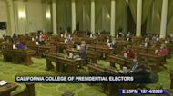 California electors cast ballots for Biden as president