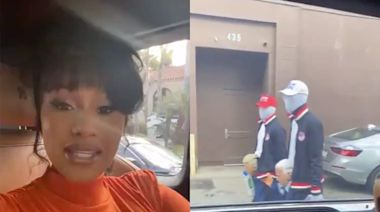 Cardi B reacts to a run-in with Donald Trump supporters in Los Angeles: 'I really feel like we're going to get jumped'