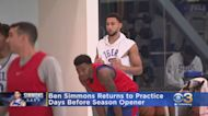 Ben Simmons Returns To Practice Days Before Season Opener