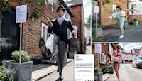 Monty Python fan gets residents to perform John Cleese silly walks