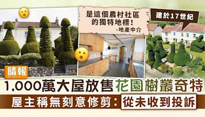 奇特設計 ︳1,000萬大屋放售花園樹叢形狀奇特 屋主稱無刻意修剪:從未收到投訴 - 晴報 - 家庭 - 家居