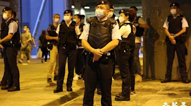 網上號召721兩周年活動 元朗站警方嚴密戒備