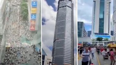 深圳350米高大廈晃動 專家猜虎門「波浪橋」翻版(視頻/圖) - - 大陸時政