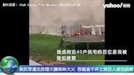 美民眾違法放煙火釀森林大火 吞噬逾千坪土地百人被迫疏散