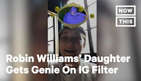 Zelda Williams Sweetly Surprised by Disney Character Instagram Filter | NowThis